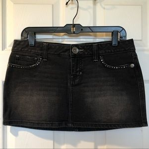 Guess Black Jean Mini Skirt